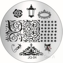 "Plaque de stamping JQ-04 ""chat,lampe, etc..."""