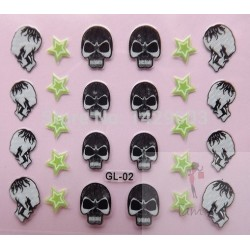 Stickers Skull and Bones, tête de mort GL-02