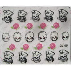 Stickers Skull and Bones, tête de mort GL-05