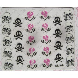 Stickers Skull and Bones, tête de mort GL-09