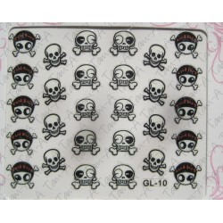 Stickers Skull and Bones, tête de mort GL-10