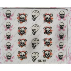Stickers Skull and Bones, tête de mort GL-15