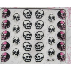 Stickers Skull and Bones, tête de mort GL-17