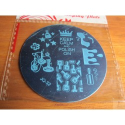"Plaque de stamping JQ-32 ""Nail Polish Addict """